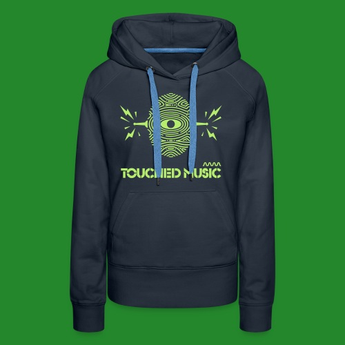 Touched Logo Orange and Navy - Women's Premium Hoodie