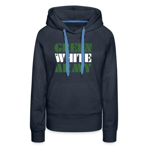GREEN & WHITE ARMY _STENCIL_3 - Women's Premium Hoodie