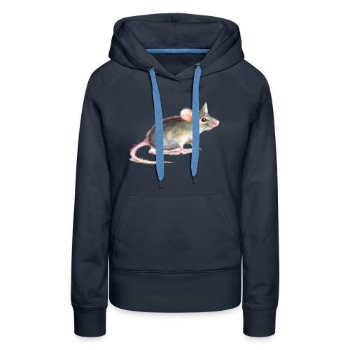 Kleine graue Maus - Frauen Premium Hoodie