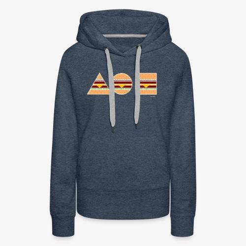 Graphic Burgers - Felpa con cappuccio premium da donna