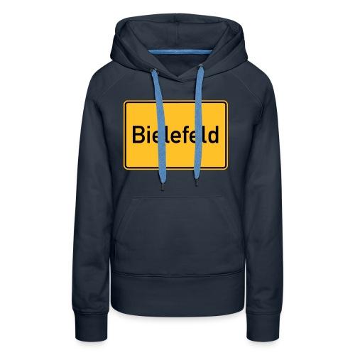 Ortsschild Bielefeld - Frauen Premium Hoodie