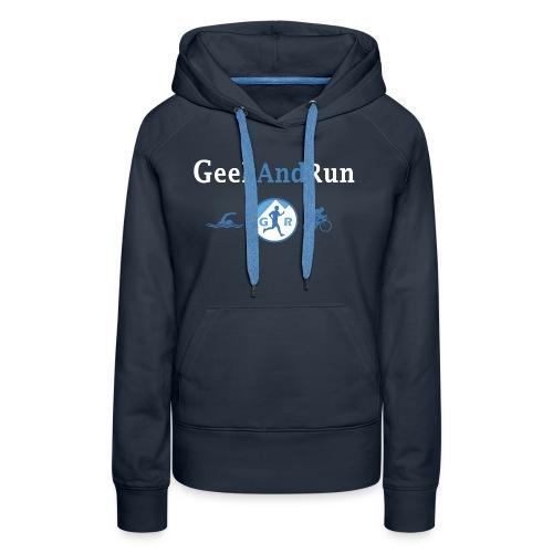 geekandrun - Sweat-shirt à capuche Premium pour femmes