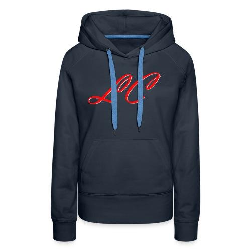 lc_red - Sweat-shirt à capuche Premium pour femmes