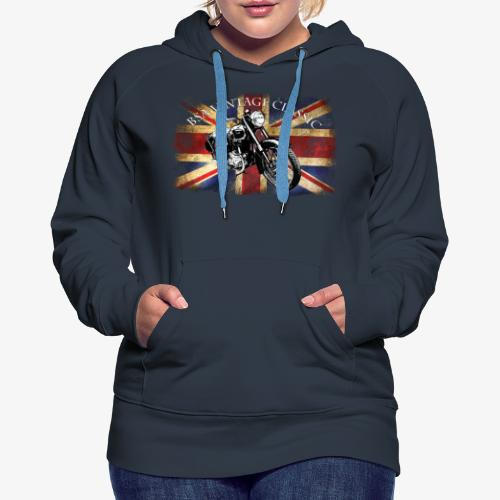 Vintage famous Brittish BSA motorcycle icon - Women's Premium Hoodie