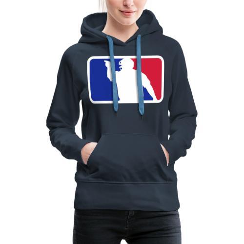 Baseball Umpire Logo - Women's Premium Hoodie