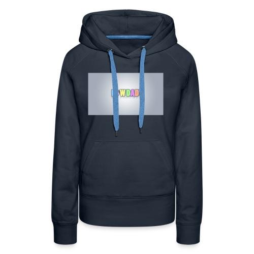 Logo KowDady - Sweat-shirt à capuche Premium pour femmes