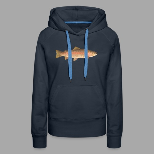 low-polygon-trout art.png - Naisten premium-huppari