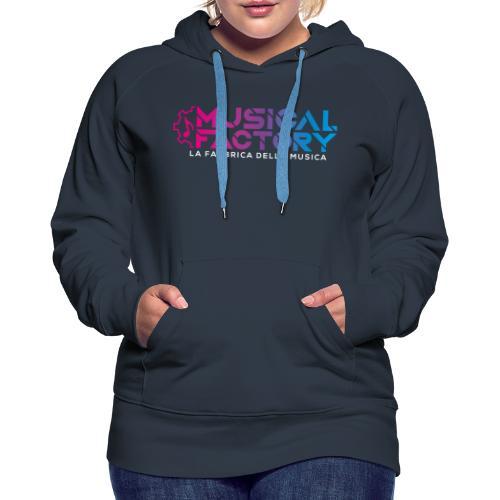 Musical Factory Sign - Felpa con cappuccio premium da donna