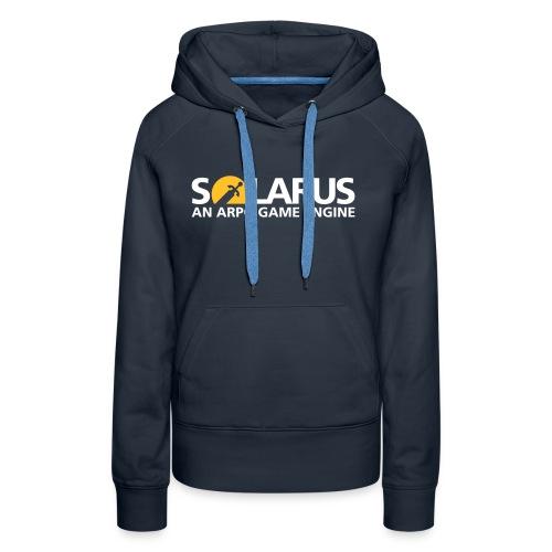 Solarus engine logotype - Sweat-shirt à capuche Premium pour femmes