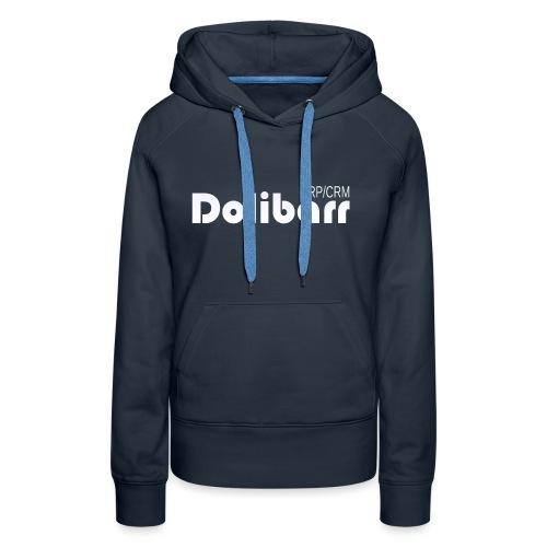 Dolibarr logo blanco - Sudadera con capucha premium para mujer