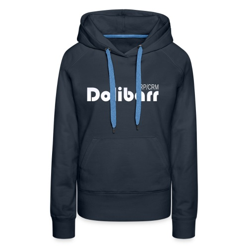 Dolibarr logo white - Sweat-shirt à capuche Premium pour femmes