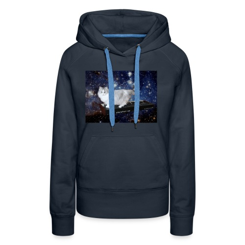 Cat on synthesizer in space p08 - Vrouwen Premium hoodie