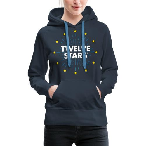 TWELVE STARS® EURO RETRO STARS - Women's Premium Hoodie