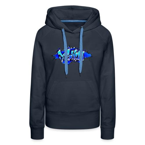 GRAFFITI JOSHUA WALL BROKEN BLUE - Sweat-shirt à capuche Premium pour femmes
