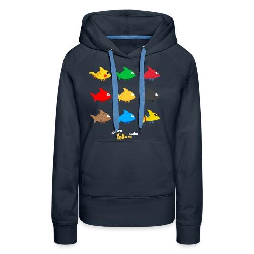 Swim! Yellow! Swim! - Vrouwen Premium hoodie