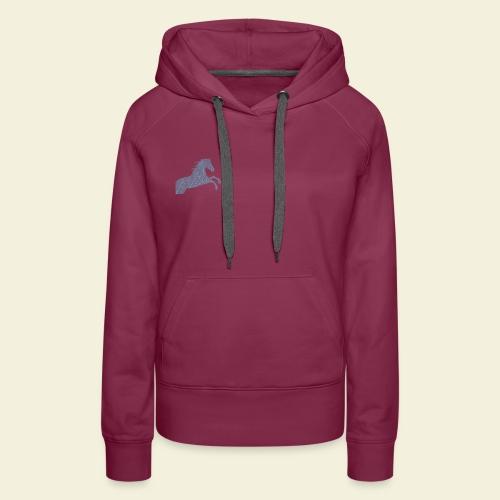 Cheval feuille - Sweat-shirt à capuche Premium pour femmes