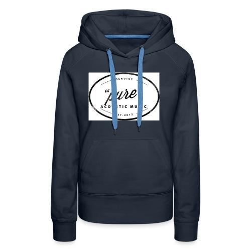 pure logo gross - Frauen Premium Hoodie