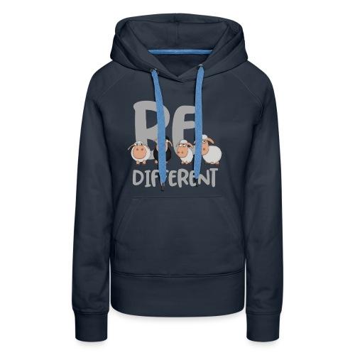 Be different Schafe: Einzigartiges schwarzes Schaf - Frauen Premium Hoodie