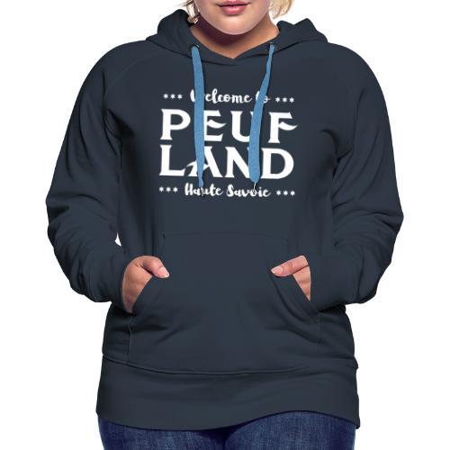 Peuf Land 74 - white - Sweat-shirt à capuche Premium pour femmes