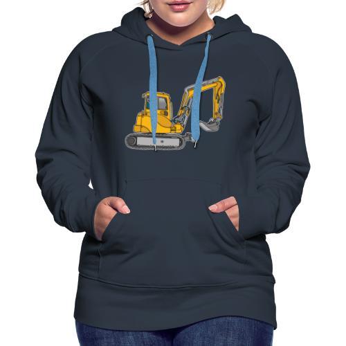 BAGGER, gelbe Baumaschine mit Schaufel und Ketten - Frauen Premium Hoodie