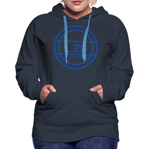 groot logo blauw - Vrouwen Premium hoodie