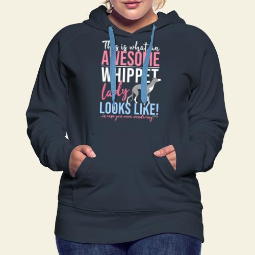 Awesome Whippet Lady VI - Naisten premium-huppari
