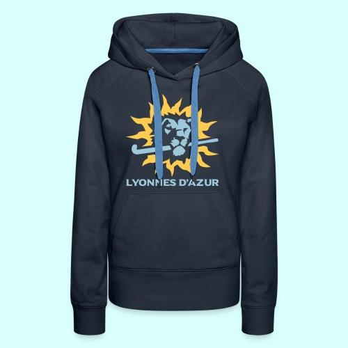 Lyonnes d azur 2 couleurs - Sweat-shirt à capuche Premium pour femmes