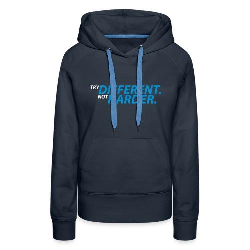 try different weiß blau - Frauen Premium Hoodie