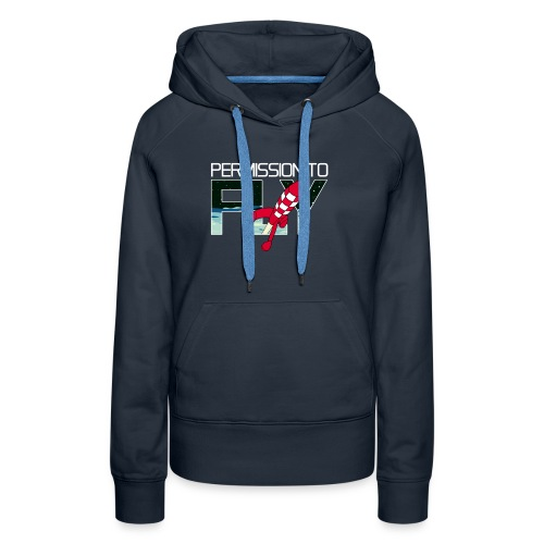 Permission To Fly Rocket - Women's Premium Hoodie