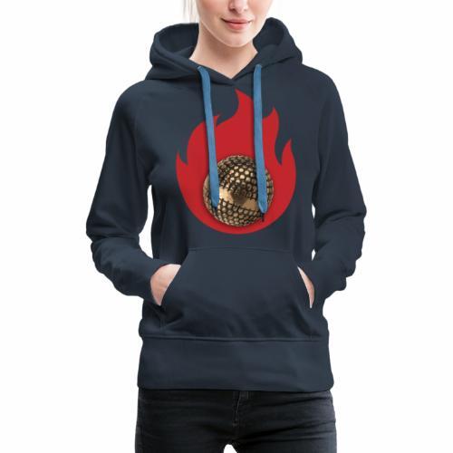 petanque fire - Sweat-shirt à capuche Premium pour femmes