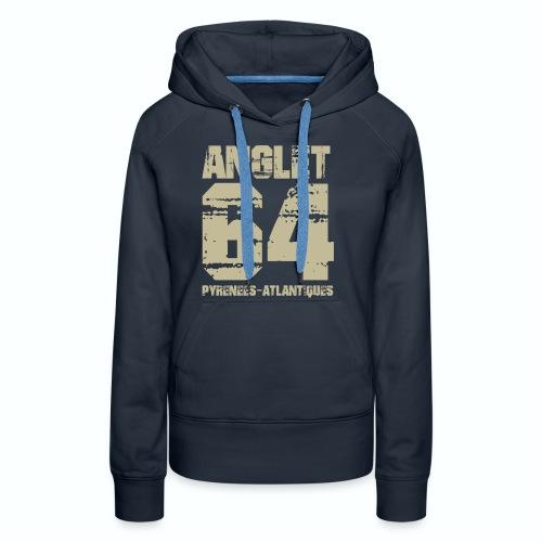 Aquitaine Pyrénées Atlantiques 64 Anglet - Sweat-shirt à capuche Premium pour femmes