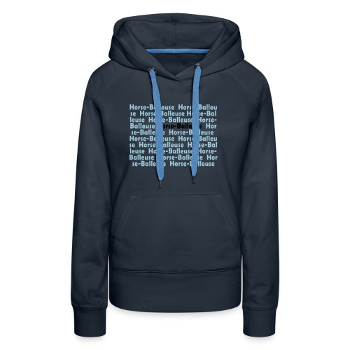 logoecriturehb copie - Sweat-shirt à capuche Premium pour femmes