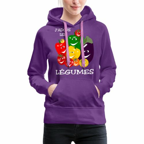 I love vegetables - Women's Premium Hoodie