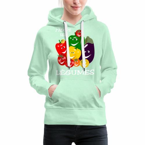 I love vegetables - Women's Premium Hoodie
