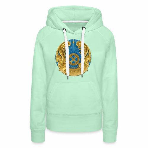 Kasachstan Казахстан Герб Wappen T-Shirts 2c - Frauen Premium Hoodie