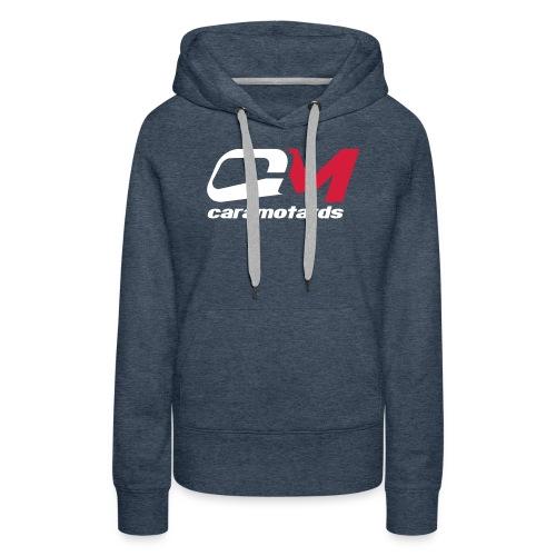 logo bleu cm2012 - Sweat-shirt à capuche Premium pour femmes