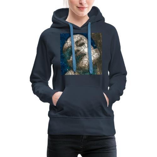 madone vitrail - Sweat-shirt à capuche Premium pour femmes