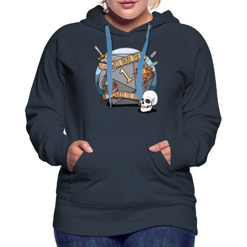 Devine je meurs - Donjons et dragons du MDN D & D - Sweat-shirt à capuche Premium pour femmes