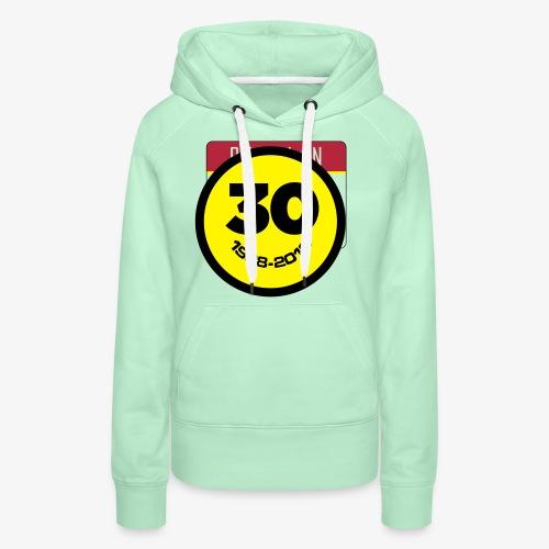 30 Jaar Belgian New Beat Smiley - Vrouwen Premium hoodie