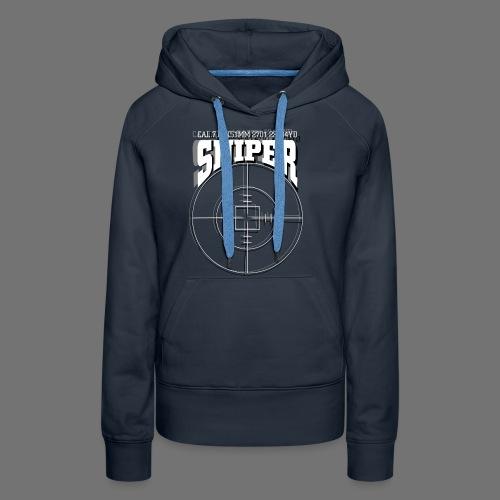 Sniper (białe) - Bluza damska Premium z kapturem