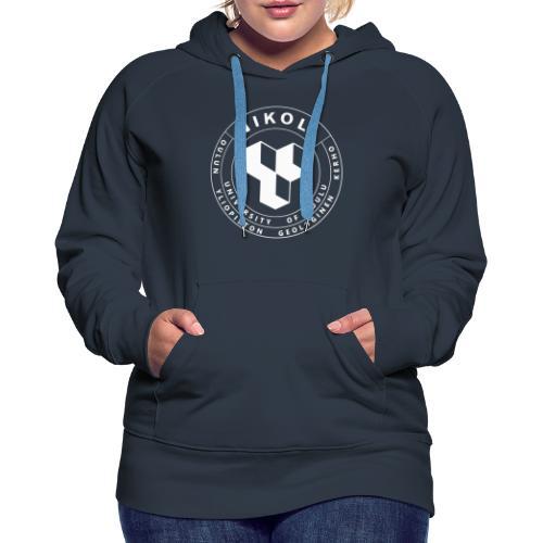 Nikolin valkoinen logo - Naisten premium-huppari