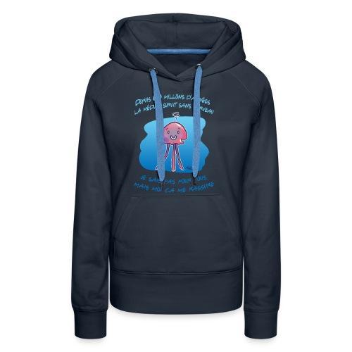 Meduse - Sweat-shirt à capuche Premium pour femmes