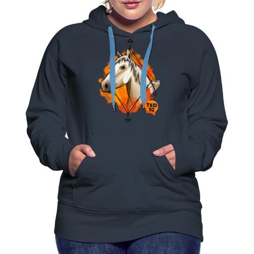 Apolline Orange - Sweat-shirt à capuche Premium pour femmes