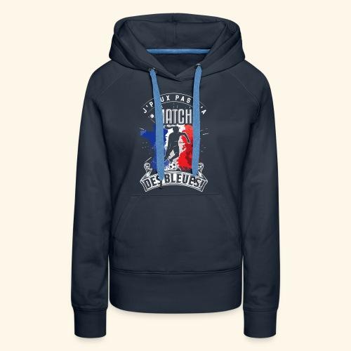 Les Bleues FOOTBALLEUSE - Equipe de France féminin - Sweat-shirt à capuche Premium pour femmes