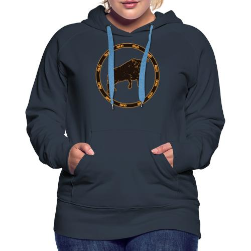 Toro Olé - Sudadera con capucha premium para mujer