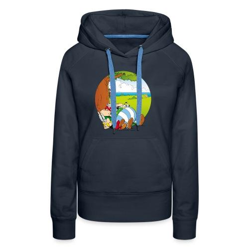Astérix & Obélix Font Une Sieste - Sweat-shirt à capuche Premium pour femmes