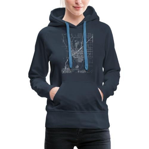 Minimal Vacaville city map and streets - Women's Premium Hoodie