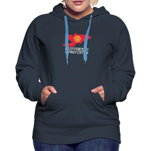 Straight Outta Kyrgyzstan country map - Women's Premium Hoodie