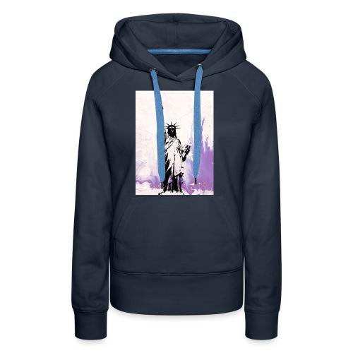 Purple liberty - Sudadera con capucha premium para mujer