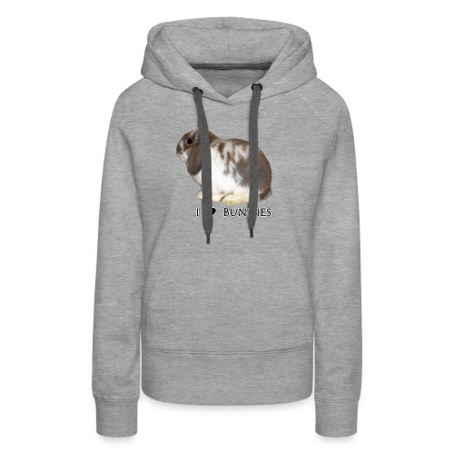 I Love Bunnies Luppis - Naisten premium-huppari